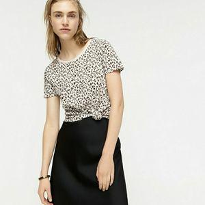 J. Crew Vintage Cotton Crewneck Tshirt Leopard